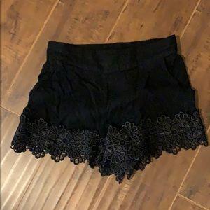 Embellished floral black shorts forever 21